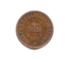1895 Hungary Two Filler-Dark Chocolate Patina with Strong Details!