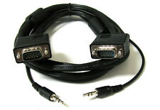 10' FT 10FT SVGA Super VGA M Male to Male Cable with 3.5mm Audio for Monitor TV