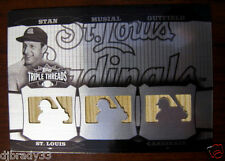 Stan Musial 2006 Topps Triple Threads White Whale 1/1 Triple Bat