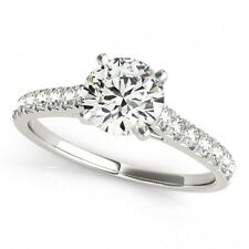 1 CTW Certified Diamond Solitaire Bridal Ring 18K White Gold - 27585... Lot 8746