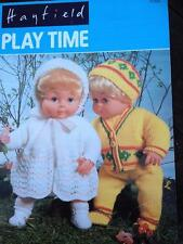 Hayfield Playtime Dolls Clothes Pattern Booklet Sindy, Action Man, Baby Doll