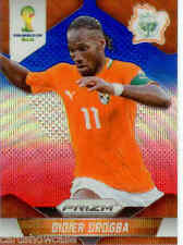 2014 World Cup Prizm Blue Red Wave Parallel Card No.60 D.Drogba (Ivory Coast)