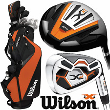 """NEW 2016"" WILSON MENS X31 HIGH LAUNCH COMPLETE GOLF SET +STAND BAG +1"" LONGER"
