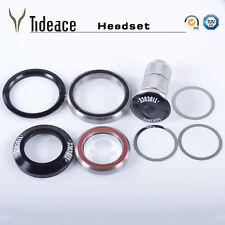 "Road Bike Headset 1-1/8'' to 1-1/2"" Integrated For MTB Bike Carbon Steerer Tube"