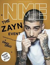 NEW MUSICAL EXPRESS NME 25 MARCH 2016 ZAYN MALIK ONE DIRECTION 1D Cover n.m.e.