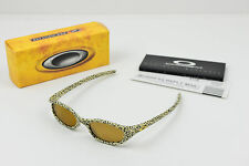 New in Box Oakley FOUR S Leopard Cheetah/Leather Gold Iridium Women/Men