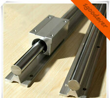 2 X SBR25-3000mm FULLY SUPPORTED LINEAR RAIL SHAFT&4 SBR25UU Block