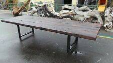 Redwood Reclaimed Dining Table Log Cabin Tables Furniture Old Growth Redwood LB