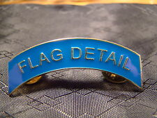 Flag Detail Arch Pin Arc Tab Junior ROTC, JROTC, New Old Stock Gold Blue