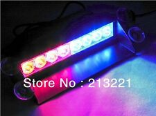 1W 8-LED RED/BLUE POLICE STYLE STROBE LIGHT FOR ALL CARS