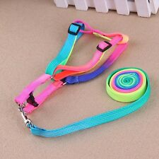 Pet Dog Cat Puppy Kitten Rabbit Nylon Harness Collar Leash Lead Adjustable