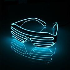 LED EL Wire Glasses Light Up Glow Sun Glasses Eyewear Shades for Nightclub Party