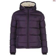 Lee Cooper Women's 2 Zip Bubble Jacket Purple Size 8