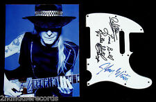 JOHNNY WINTER-Mega Rare Signed Photograph & Pickguard From Chicago Blues Fest