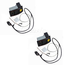2 Sets Active 3 Bands EQ Acoustic Guitar Preamp Pickup Tuner Piezo Equalizer