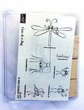 Stampin Up 2003 Cute As A Bug Set of 6 New Unmounted Rubber Stamps Retired