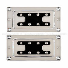 Chrome Humbucker Bridge Neck Set Pickups for Rickenbacker Bass Guitar Parts C4