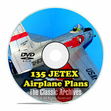 135+ JETEX Scale Model Airplane Plans, Templates Bombers Jets Glider PDF DVD F59