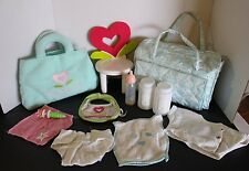 American Girl Bitty Baby Diaper Bag w/extras, Bitty Better Kit &Bitty Baby Chair