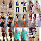 New Women's 2Pcs Tracksuit Hoodies Sweatshirt Pants Sets Sport Wear Casual Suit