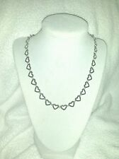 "Qvc STEEL by DESIGN 20""Heart Necklace Gray stainless steel $54.99 NWT"