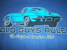 OLD GUYS RULE CORVETTE THE ORIGINAL AMERICAN IDOL S/S SIZE XL T-SHIRT