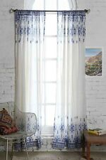 NEW Urban Outfitters Magical Thinking Henna Curtain Window Panels Blue & White