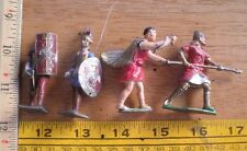 Lead soldiers England France lot of 4 A27 NO RESERVE VINTAGE