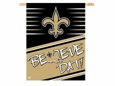 "New Orleans SAINTS vertical banner flag ""Believe Dat"" 27 by 27"" New in Package!"