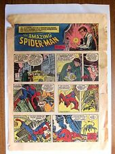 THE AMAZING SPIDERMAN Color DONDI Full Page NEWSPAPER STRIP Sunday April 10 1977
