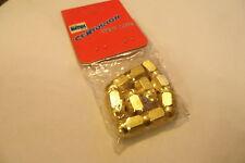 NOS 1980's Alloy BMX Valve Caps Gold Nuts  x 10