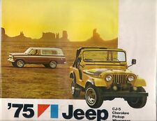 Jeep CJ Pick-Up Wagoneer Cherokee 1975 USA Market Sales Brochure