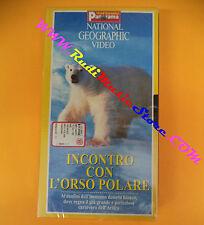 film VHS INCONTRO ORSO POLARE National geographic sigillata PANORAMA(F104)no dvd