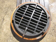 Vintage Hard Wood Round Storm Drain Cover 24 inch concrete pipe