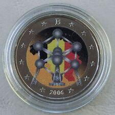 """2 Euro Belgien 2006 """"Atomium"""" in Farbe unz"""