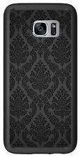 Black Damask Print For Samsung Galaxy S7 Edge G935 Case Cover by Atomic Market