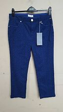 NEW LADIES M & S MARKS AND SPENCER PER UNA BLUE ROMA TROUSER PANTS SIZE 10 BNWT