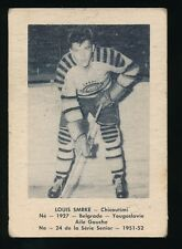1951-52 Laval Dairy (QSHL) #24 LOUIS SMRKE (Chicoutimi) -from Yugoslavia