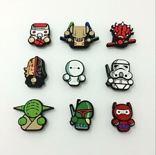 9pcs Cute Star Wars Shoe Charms Accessories for Bracelets/Bands/Croc/Jibbitz