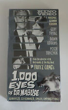 1000 Eyes of Dr. Mabuse SEALED Original German Version VHS Horror  Subtitled