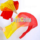New 1.5M Hand Made Colorful Belly Dance Dancing Silk Bamboo Long Fans Veils SACA