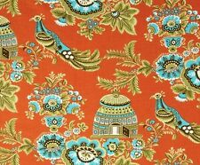 BELLE ROYAL GARDEN - Amy Butler - Birds - Cages - Orange -Fabric - 1/2 Yard