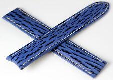 CARTIER Bracelet/Band Requin 17/16mm Bleu pour montre MUST