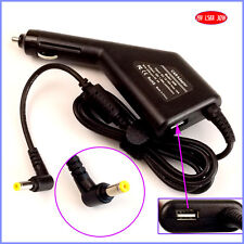Laptop Car DC Adapter Charger + USB for Acer Aspire One 150 1551 D255 D257