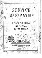 Truckstell Tip-Toe-Matic Overdrive Model 101 - 103 Manual for Chevrolet 14 pages
