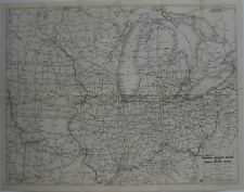1935 ESSO Touring Service Road Map NORTH CENTRAL STATES General Drafting US 66