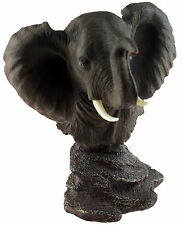 Grey Elephant Head 23 cm Bust Ornament / Figurine