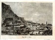 Stampa antica Veduta di KARS Turchia Turkey 1889 Old Print