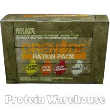 Grenade Ration 120 Pack Multi-Vitamin Anti-Oxidant, Probiotics and Fatty Acids