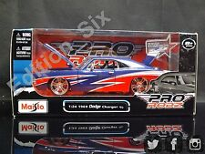 Maisto ProRodz 1:24 1969 Dodge Charger R/T Blue Red American Muscle New boxed